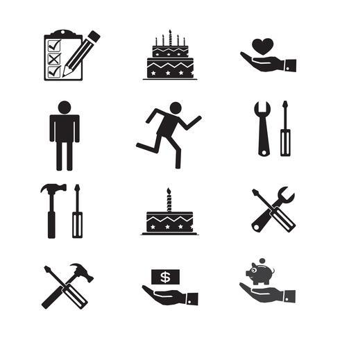 Conjunto de ícones da web para o site e comunicação vetor