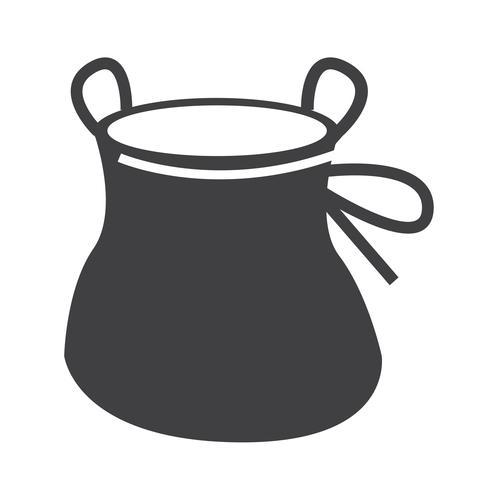Krijtzak beklimmen pictogram ontwerp illustratie
