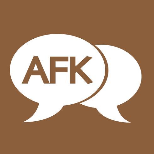 Ilustração de bolha de bate-papo do AFK internet sigla