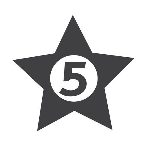 cinq étoiles hôtel icône illustration Illustration