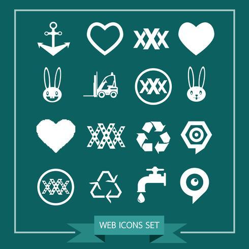Set van web-iconen voor website en communicatie
