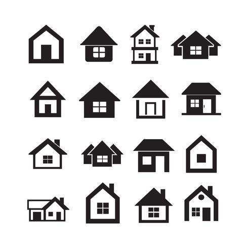 Hus Icon Fastigheter Set för hemsida