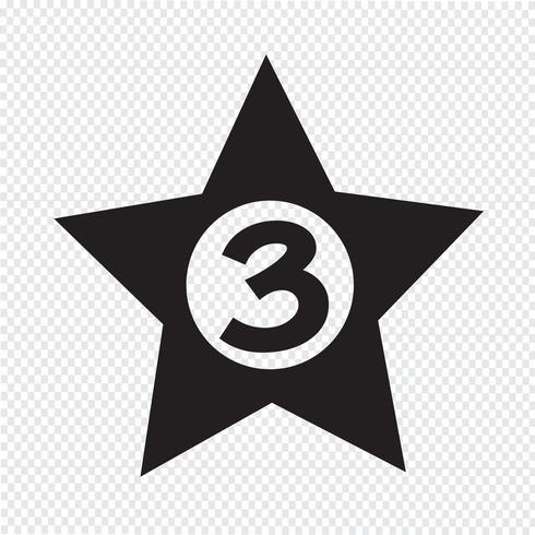 3 sterren Hotel pictogram ontwerp illustratie