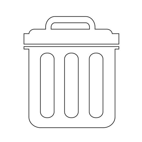 Mülleimer Symbol Symbol Abbildung