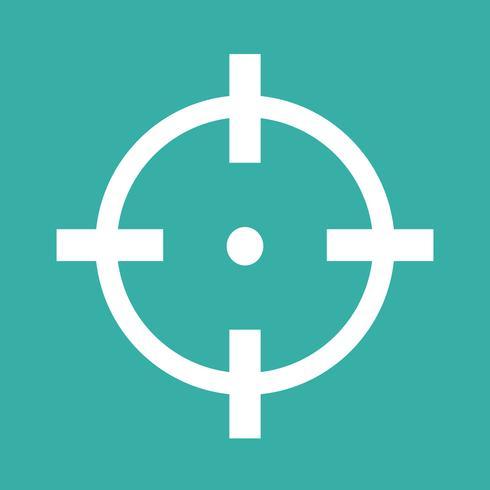 Illustrazione dell'icona dell'icona dell'obiettivo
