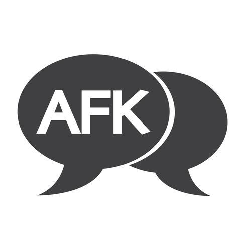 AFK internet acroniem chat bubble illustratie