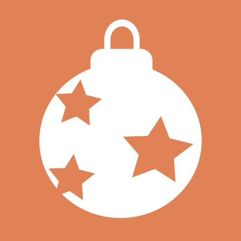 Christmas Ball icon design Ilustração vetor