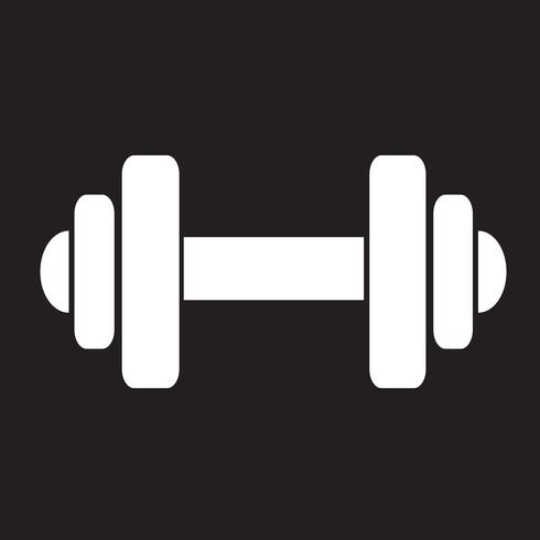 Dumbbell icon  symbol sign vector