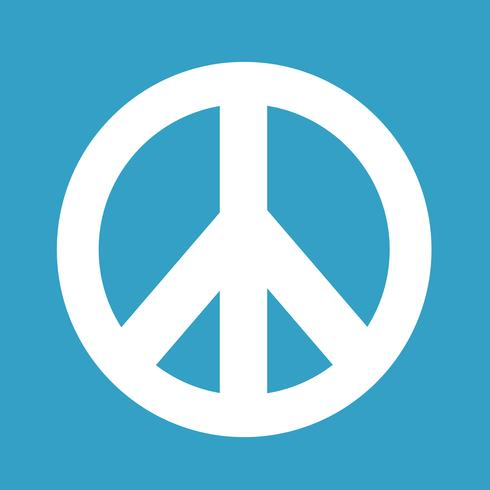 Hippie symbole de la paix icône illustration