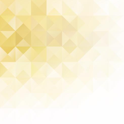 Gele raster mozaïek achtergrond, creatief ontwerpsjablonen