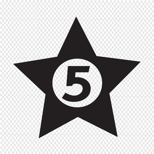 femstjärnigt hotell ikon design illustration