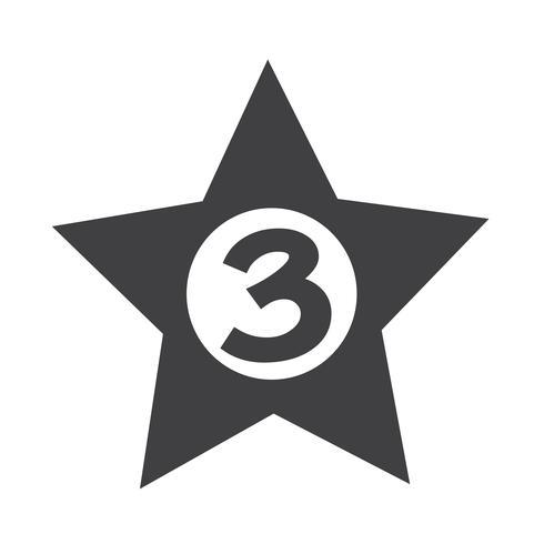 Hotel de 3 estrellas icono diseño ilustración