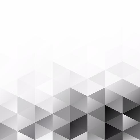 Fundo de mosaico de grade preta, modelos de Design criativo vetor