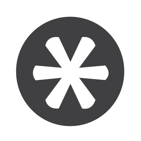 Asterisco Icono de signo de nota al pie