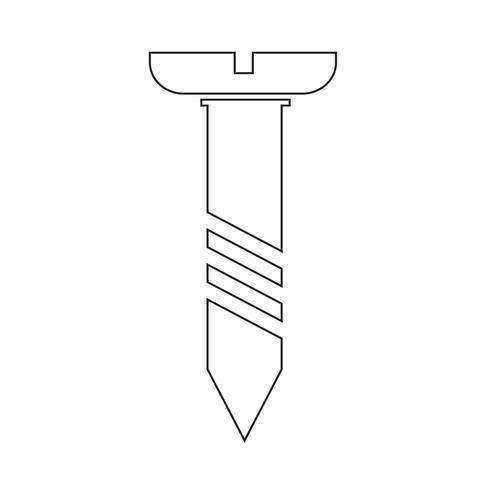 schroef pictogram symbool illustratie