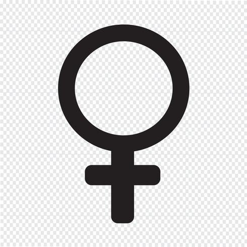 signo femenino icono ilustración