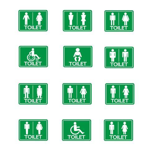 Restroom-Zeichen-Icon-Set