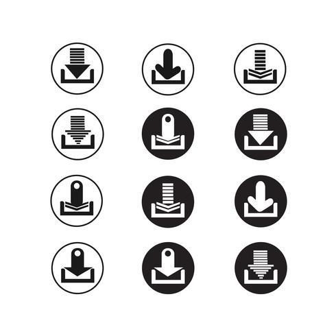 conjunto de iconos de signo de flecha