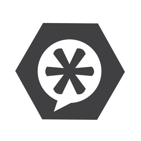Asterisk Voetnoot teken pictogram