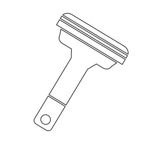 Shavers icono símbolo signo vector