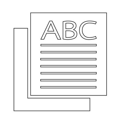 icono de página signo ilustración