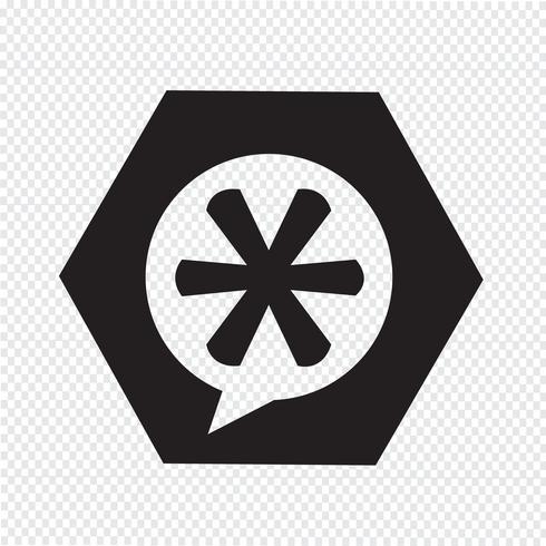 Sternchen-Fußnote-Zeichen-Symbol
