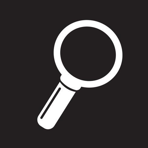 Zoek pictogram symbool teken vector