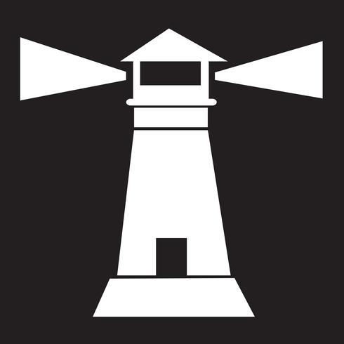segno di simbolo dell'icona del faro