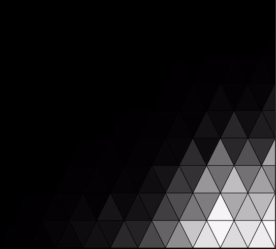 Zwart vierkant raster mozaïek achtergrond, creatief ontwerpsjablonen
