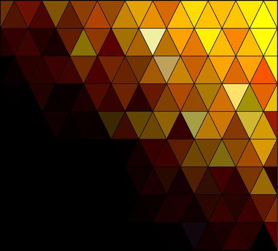 Fondo de mosaico de cuadrícula amarilla, plantillas de diseño creativo vector