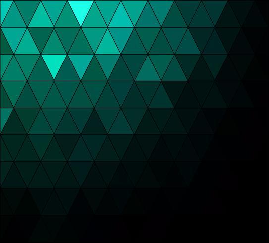 Fondo de mosaico de cuadrícula verde, plantillas de diseño creativo vector