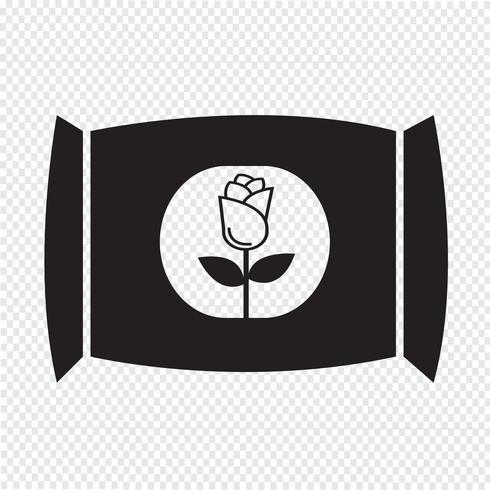 Fertilizante icono símbolo signo vector