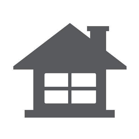 Signe de symbole maison icône vecteur