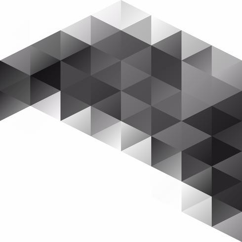 Fond de mosaïque de grille noire, modèles de conception créative vecteur