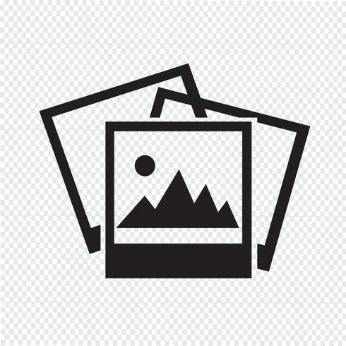 Icono de fotografía símbolo signo