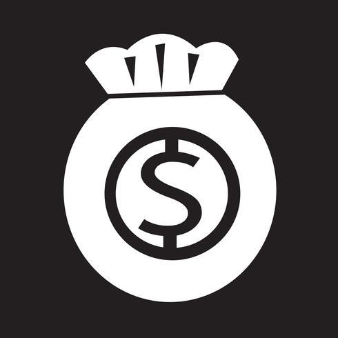 Signe de symbole icône argent vecteur