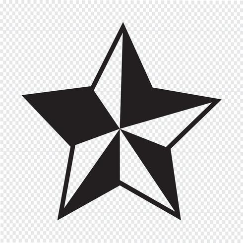 Sinal de símbolo de ícone de estrela