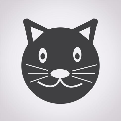 Cat icon symbol tecken