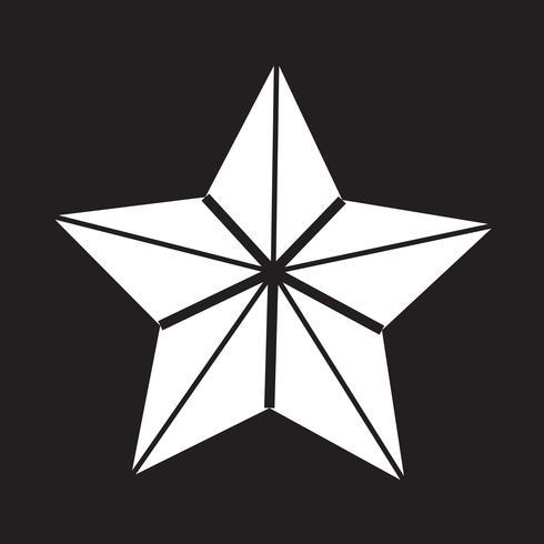 Icono estrella signo símbolo vector