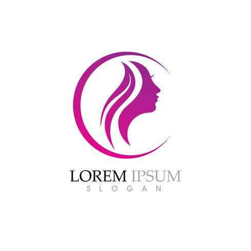 Le donne di bellezza affrontano il carattere di sagoma Logo