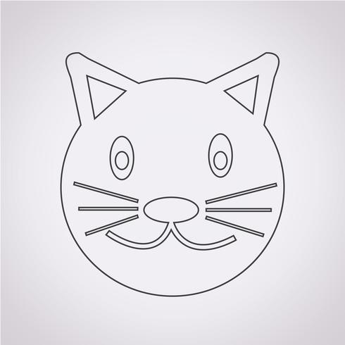 Icono de gato símbolo de signo