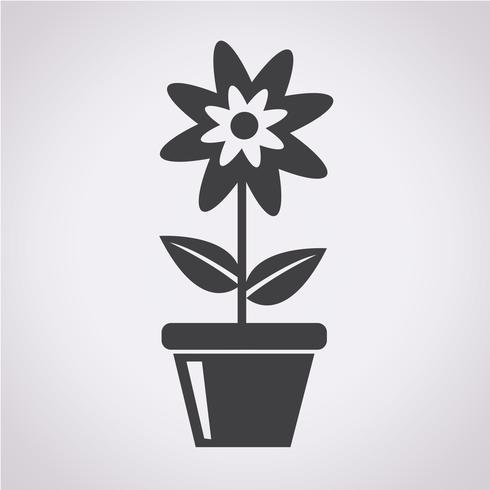 icono de flor símbolo de signo vector