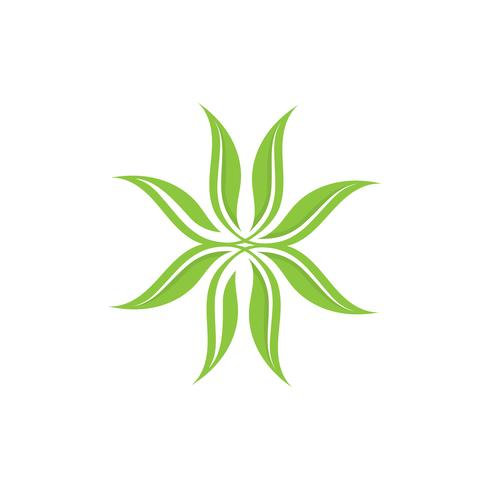 Emblemen van groene Tree leaf-ecologie