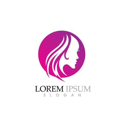 Schönheits-Frauengesichts-Schattenbildcharakter Logo