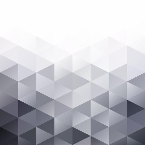 Fondo gris mosaico blanco rejilla, plantillas de diseño creativo vector
