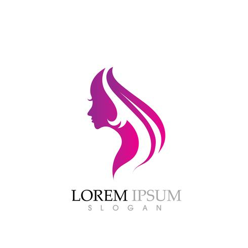 beauty women face silhouette character logo  download