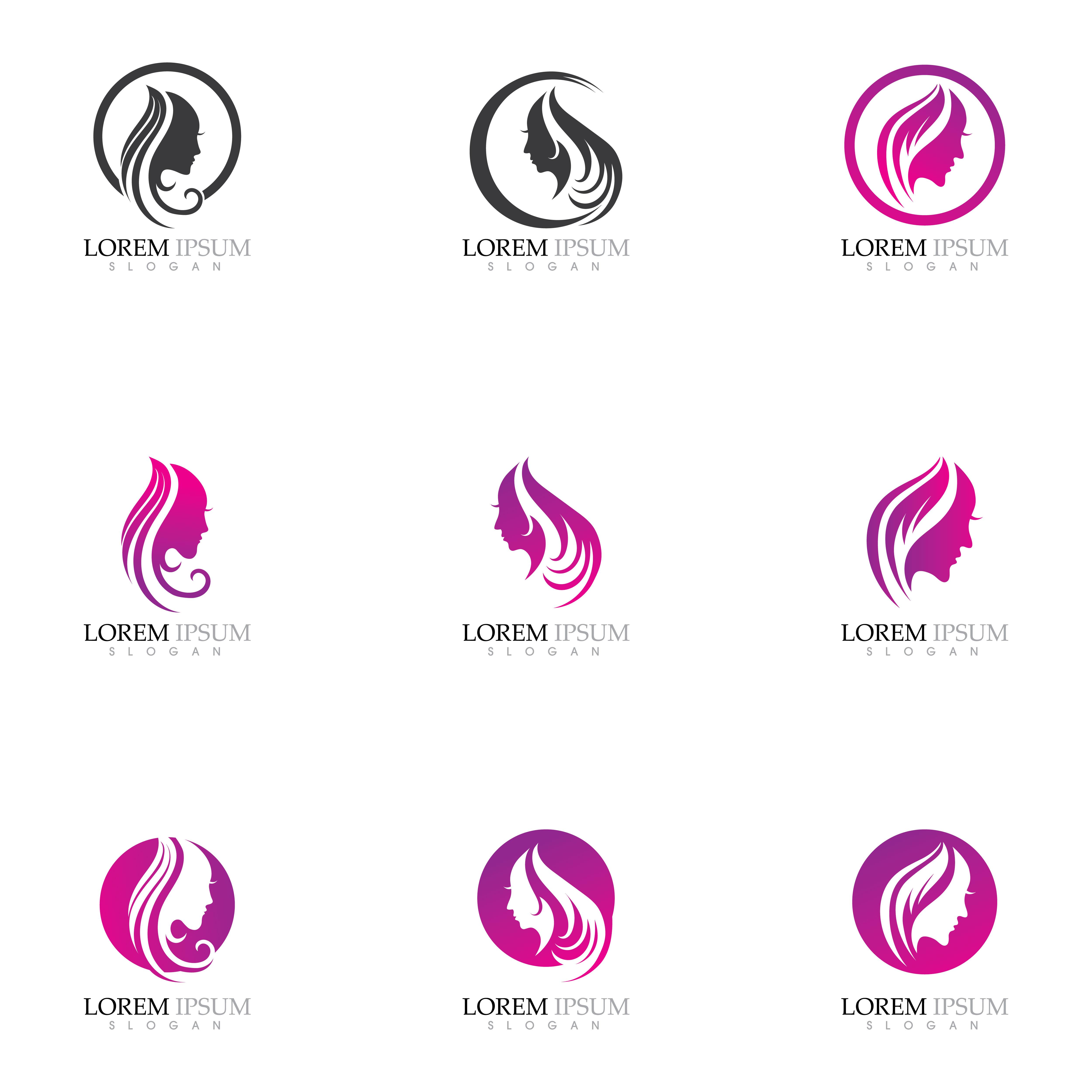 Beauty Women Face Silhouette Character Logo Download Free Vectors Clipart Graphics Vector Art