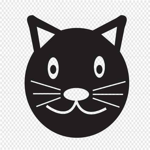Gato, ícone, símbolo, sinal