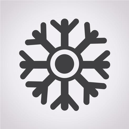 snowflake icon  symbol sign vector