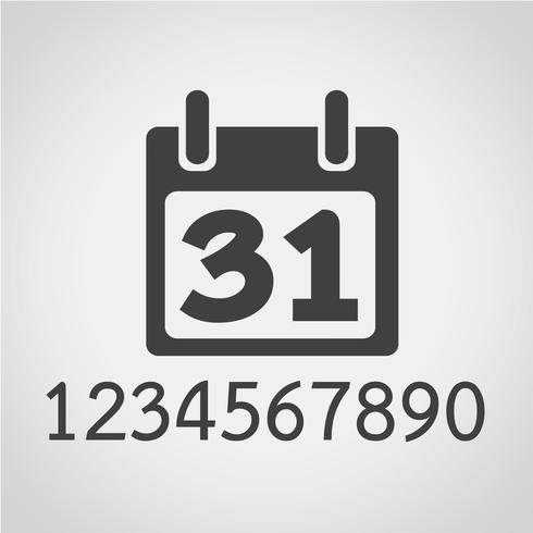 Simbolo De Calendario.Icona Calendario Segno Simbolo Scarica Immagini Vettoriali